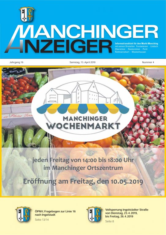 Manchinger Anzeiger April 2019